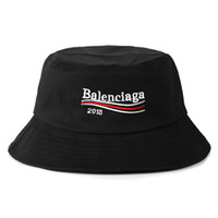 Wholesale summer sun hats wide brim resale online - 2018 Summer SunBucket Hat Protection Fishing Brand Bob Boonie Bucket Hats Summer caps color