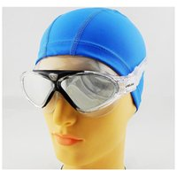 Wholesale anti uv swimwear for sale - goggles silver jiejia Profesional swimming goggles for men women underwater big classes anti fog waterproof UV swimwear silicone belt