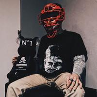 ingrosso stampe di chiodo-18ss ellraiser Joint Pinhead Tee Retro Street Nail Head T-Shirt sciolta Ghost Stampa T-Shirt per uomo e donna HFWPTX192