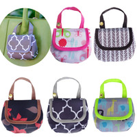 Wholesale diaper bag fabric - Baby Diaper Bags Portable Nappy Pacifier Snacks pocket money Storage Bag print Diaper Bag Infant stroller bags C4408