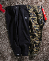 Wholesale ape clothing - b ape 2colors Men pants Clothing stitching embroidery pencil Trousers Loose Long camo Pants Elastic Pants Hip Hop CALABASAS letters kanye