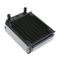 Wholesale Cpu Cooling Fan For Laptop - VAKIND 80mm Aluminum Computer Radiator Water Cooling Radiator Water Cooler Tubes Heat Exchanger CPU Heat Sink For Laptop Desktop