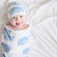 Wholesale newborn baby bedding sets for sale - Infant Baby Sleeping Bag Hat Newborn Swaddle Baby Stroller Swaddling Animal Flower Printed Sleeping Bag Hat Baby Bedding Sets LM98
