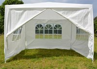 Wholesale outdoor party tents for sale - Outdoor White Tent Waterproof Light Thin Praetorium Garden Party Wedding Tents With Windows Eco Friendly Decoration Canopy jy jj