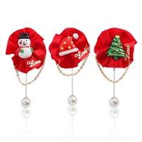 emaille hut charme großhandel-Klassische Weihnachten Broschen Charme Broschen Für Frauen Brief Liebe Weihnachten Brosche Roter Weihnachtsbaum Schneemann Hut Quaste Emaille Pins
