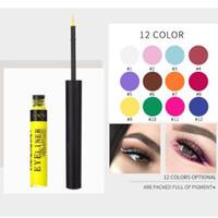 usine d'eye-liner achat en gros de-12 couleurs eyeliner mat longue durée imperméable blanc eye-liner liquide eyeliner fard à paupières pour la fête usine gros