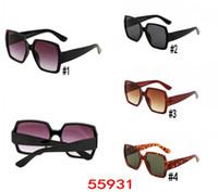 gafas de sol de alta calidad para mujer al por mayor-Diseñador de moda CALIENTE de alta calidad mujeres Gafas de sol Gafas de sol de gran tamaño cuadrado Diseñador de gafas para mujer YY55931SL Gafas de sol 4 colores