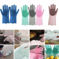teller m großhandel-Magische Silikon-Teller-waschende Handschuhe Eco-freundliche Wäscher-Reinigung für Vielzweckküchen-Bett-Badezimmer-Werkzeug-Haustier-Sorgfalt, die Sorgfalt AAA1122 pflegt