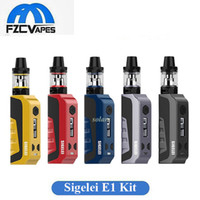 Wholesale e cigarette h - 100% Original Sigelei E1 80W Starter Kit with 2ml SM2 H Tank 0.91inch LED Box Mod E Cigarette Starter Kit