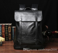 Wholesale Han Edition Leather Backpack - factory sales brand tothe package for han edition men backpack, leisure bag trend of college students wind leather mens backpack