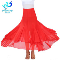 ingrosso moderno swing-Ballroom Flamenco Waltz Dance Costume Long Skirts Big Swing Modern Standard Tango Dancer Vestito elegante Abiti