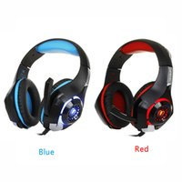 Wholesale cell phone wired gaming headset resale online - Game Headphone for mobile phone PS4 PSP PC Gaming Headphones mm usb Wired Headset with Microphone LED Lamp Noise Canceling Headphone