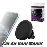 Wholesale safe car resale online - 360 Degree Rotation Car Mount Phone Holder Station Storng Magnetic Car Holder Easier Safer Driving with Retail Box