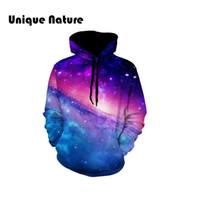 galaxie sweatshirt plus größe großhandel-Einzigartige Natur 3D Gedruckt Sterne Galaxy Raum Beiläufige Hoodies Herren Neue rookie Pullover Mode-stil Sweatshirts Plus Größe 5XL