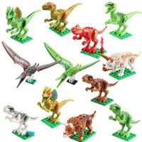 Wholesale kids building toys for sale - 12pcs Dinosaur Model Blocks Toys Jurassic World Park Movie Triceratops Tyrannosaurus Building Blocks Kids Toys Novelty gifts AAA1267