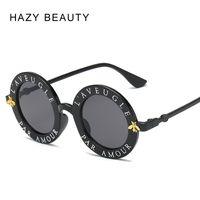 einzigartige männer gläser großhandel-L'aveugle Par Amour Runde Sonnenbrille Frauen unverwechselbare Mode Sonnenbrillen Männer Einzigartige Marke Designer Retro Sonnenbrille uv400