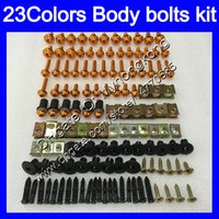 Wholesale Honda Rr Plastics - Fairing bolts full screw kit For HONDA CBR400RR NC29 CBR400 RR CBR 400 RR 95 96 97 98 1995 1996 1998 Body Nuts screws nut bolt kit 23Colors