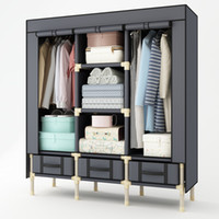 Wholesale drawer closet organizer - HHAiNi Portable Enlarged Double Wardrobe Strong Storage Organizer with 3 Drawers, Heavy Duty Closet for Clothes