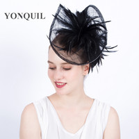 Wholesale Nice Events - NEW ARRIVAL high quality 20color kentucky fascinators with feather derby event Occasion church hat nice gril wedding hair accessories SYF121