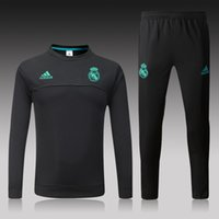 Wholesale football neck - Luxury Brand Tracksuit Soccer Designer AD Sweat Suits For Men Football Team Training Suit Crew Neck Long Sleeve Sport Clothing