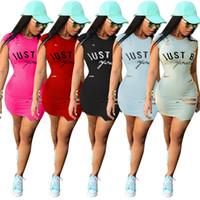 Wholesale ladies wholesale office dresses - Free Shipping DHL Epack Print Bodycon Dress Sleeveless Sheath Mini Party Dress Women Office Ladies Elegant Midi Dress