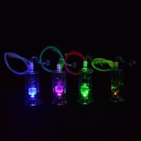 Wholesale led glasses for sale - Oil Rigs with Led Light inches Glass Water Pipes Multicolor Unique Hookahs for Sale Inline Perc Recycler Glass Bongs with mm Joint