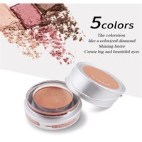 Wholesale eye shadow cream singles - YANQINA Glitter Makeup Eyeshadow Palette Waterproof Single Color Pearl Shimmer Eye Shadow Cream Pigment 24Hour Emollient Lasting