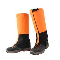 açık ayakkabı örtüleri toptan satış-Açık Kamp Yürüyüş Ayakkabı Kapak Su Geçirmez Rüzgar Geçirmez Çorapları Bacak Koruma Guard Kayak Tırmanma Kış Sıcak Ayakkabı Kapağı