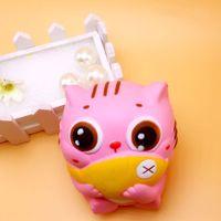Wholesale Money Fishing - Scented PU Slow Rising Squishy Pink Hold Fish Cat Decompression Toy Kawaii Jumbo Child Squishies Vivid 12 5bq B