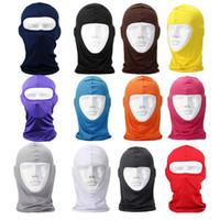fahrradgold großhandel-New Classic Lycra Ski Gesichtsmaske Fahrrad CS Sport Fußball Maske Balaclava Stirnband kopfbedeckungen halloween gesicht # 2a