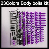 Wholesale 95 Suzuki - Fairing bolts full screw kit For SUZUKI RGV250 VJ22 RGV 250 90 91 92 93 94 95 1990 1991 1992 93 1995 Body Nuts screws nut bolt kit 23Colors
