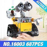 Wholesale toy bricks for children online - Lepin Technic Ideas Series Robot WALL E Building Blocks Bricks Educational Toys For Children Compatible With