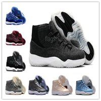 Wholesale wool cooler - ( WITH BOX ) High Quality 11 Basketball Shoes Wool Cool Gray Men 11s Olympic Gold Bred Space Jam 11s Concords XI Moon Landing