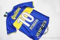 Wholesale boca juniors shorts - Free shipping 2000 Boca Juniors retro roman jersey old jersey retro soccer shirts calssical jersey