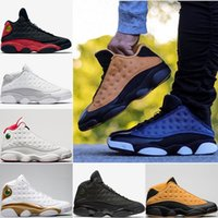 Wholesale Chicago 13 - Cheap Basketball Shoes 13 Chicago bred mens sneaker 13s Bordeaux black cat sports shoes hologram barons discount shoes for man