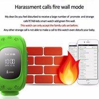 sehen sie kinder handy gps großhandel-Intelligente Uhr für Kinder GPS Tracker für Kinder tragbare Bildschirm mit SIM-Kartensteckplatz Handy Baby Watch