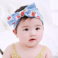 Wholesale big bow head band - Baby Headbands with Big Bows Girls Kids Cute Bowknot Floral Printing Owl Pattern Hairbands Head Bands Children Hair Accessories KHA164