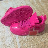 kaliteli kadın basketbol ayakkabıları toptan satış-4 PINK PATENT 2019 yılında serbest Bırakıyor Kadınlar Basketbol Ayakkabıları Moda Zarif Pembe kadınlar için Ucuz Kaliteli Tasarımcı Spor Sneakers