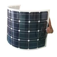 painéis solares flexíveis para barcos venda por atacado-Monocrystalline Painel Solar 100 W 18 V 12 V Flexível Flexível Carregador Solar com MC4 para RV, barco, cabine, tenda, carro, reboque, bateria de 12 v ou