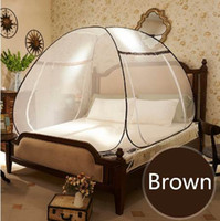 Wholesale canopies netting for beds for sale - Round Lace Curtain Dome Mosquito Net For Double Bed Princess Style Folding Netting Tent Bed Anti Mosquito Bed Canopy klamboe