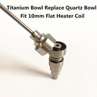Replacement Quartz Dish Bowl and Titanium Bowl for DualiTi Hybrid Titanium Quartz Nail durable and good taste from Titanium dish New Style