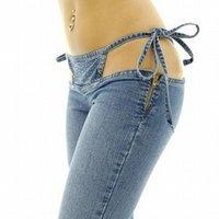 jeans de cintura baja sexy chicas al por mayor-Vetevid Spice Girls pantalones sexy pantalones de cintura baja Europa y Estados Unidos bikini fideos club nocturno jeans femeninos 9930 #