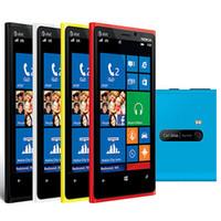 samsung telefon s7562 toptan satış-Yenilenmiş Orijinal Nokia Lumia 920 Windows Phone 4.5 inç Çift Çekirdekli 1 GB RAM 32 GB ROM 8MP Kamera Unlocked Akıllı Telefon Ücretsiz Post 1 adet