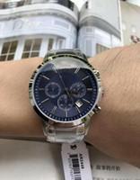 precio caja de relojes al por mayor-TOP CALIDAD MEJOR PRECIO / New Gent Chronograph Watch AR2432 AR2433 AR2434 AR2447 AR2448 AR2458 Reloj de pulsera de acero inoxidable CON ORIGINAL BOX