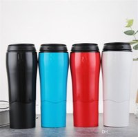 Wholesale cars take for sale - Magic tumbler cup with innovative push do not pour easily take sport water cup Office car coffee Mug ml