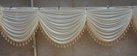 Wholesale orange wedding table decorations resale online - valance decorate swags of backdrop draps Party Curtain swags decoration of the background