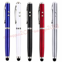 4 in 1 LED Touch Screen Stylus Ballpoint Pen for smart phone samsung tablet pc mp3
