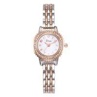 marca relógios diamantes venda por atacado-Nova marca de moda mulheres casuais pulseira de relógio de ouro rosa senhoras relógio de pulso vestido de diamante relógio de quartzo relogios