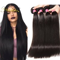 Wholesale Cheap Bulk Weave - Nadula Brazilian Straight Virgin Hair Extensions Remy Human Hair Bundles 100% Human Hair Weave Wholesale 10 Bundles 8-30inch Cheap Bulk