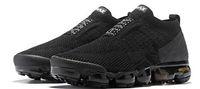esportes quentes casuais venda por atacado-Nike vapormax airmax air max 2018 Chaussures Moc 2 Laceless 2.0 Sapatos Casuais Triplo Designer Mens Mulheres Sneakers Fly preto malha Esportes almofada de Ar Formadores Zapatos